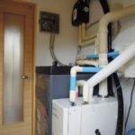 機械室のソーラー給湯暖房システム